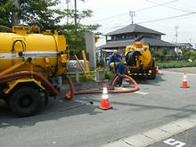側溝・水路堆積汚泥浚渫工事